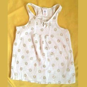 Joe Fresh Girls size 10-12 L White Tank Top